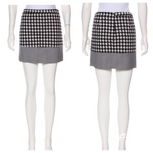 Michael Kors Houndstooth A Line Mini Skirt Size 8